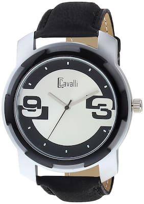 Cavalli  EXCLUSIVE SERIES CW445 Black Designer Case Silver Black Dial Men's Watch