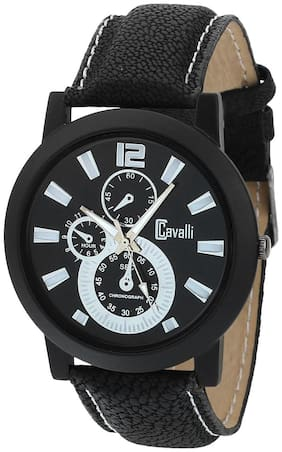 Cavalli  SLIM SERIES CW461 Black Designer Case Black Dial Men's Watch