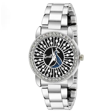 Cavalli  CW422 Peacock Dial Studded Watch - For Women