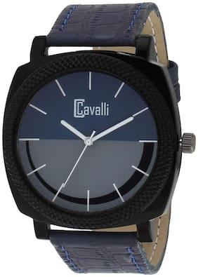 Cavalli  Black Designer Case Blue Grey Dial Men's Watch-CW451