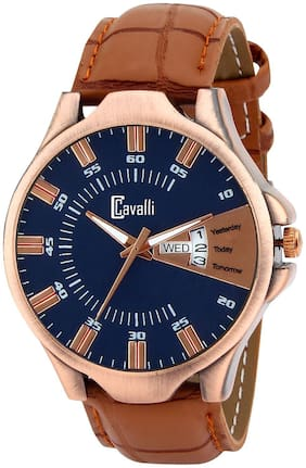 Cavalli  Exclusive Series Blue Designer Dial Day & Date Analogue Boys And Mens Watch-CW539