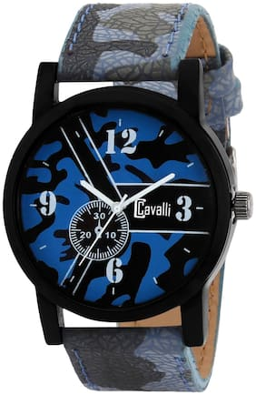 Cavalli  Casual Analogue Multicolor Leather Strap Dial Men's Watch Cw-538