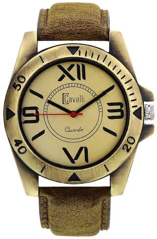 Cavalli Designer & Stylish Antique Gold Analog Watch for Men