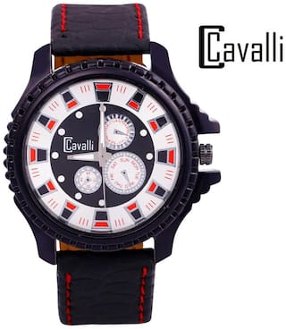 Cavalli Men's Black Analog Watch