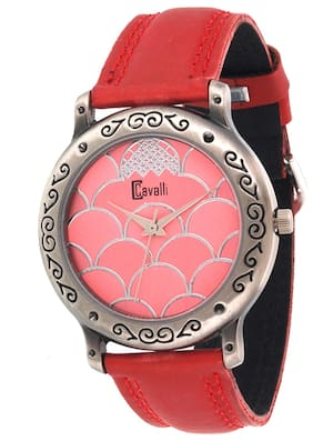 Cavalli  Red Analog Watch