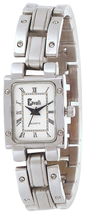 Cavalli  Silver Analog Watch