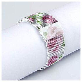 Cellfather Milanese Loop Magnetic Strap for iwatch 38Mm_Rose Flower (Watch Not Included)