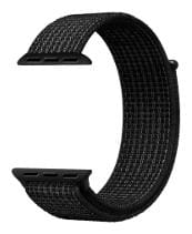 Cellfather Woven Nylon Sport Loop Strap for iWatch Series 1,2,3 (42mm) Black/White