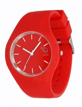 Chappin & Nellson Watches Red PU Analog Watch
