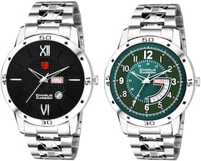 Charlie Carson combo Stainless Steel strap watch for men-CC270MMC