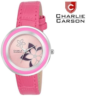 Charlie carson pink dial watch-CC039G