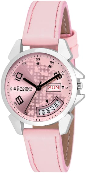 Charlie Carson Day & Date new analog watch for women-CC187G