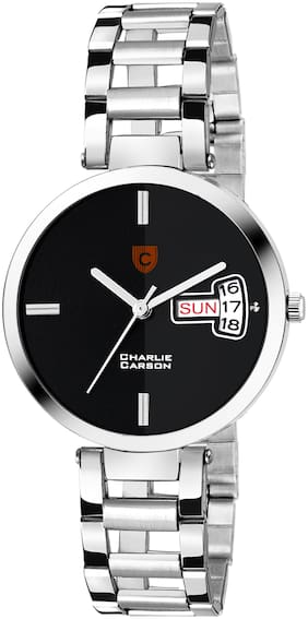 Charlie Carson black day & date functional watch for women-CC451G