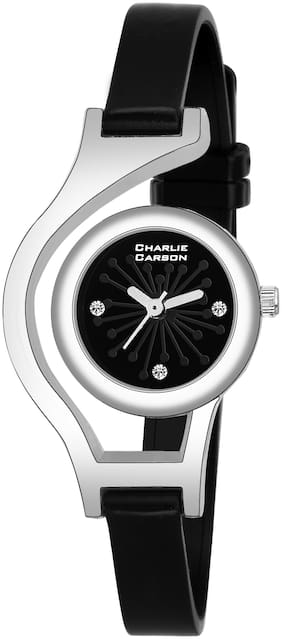 Charlie Carson black functional watch for women-CC448G