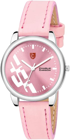 Charlie Carson pink functional watch for women-CC453G