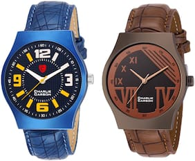 Charlie Carson new combo set of 2 analog watch for men-CC218MMC