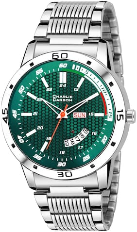Charlie Carson green day & date functional watch for men-CC443M