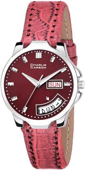 Charlie Carson Day & Date new analog watch for women-CC175G