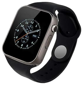 CHG A1 Unisex Bluetooth 4G Smart Watch Compatible with All, Xiaomi, Lenovo, Oppo Android/iOS Mobile Phones (Black)