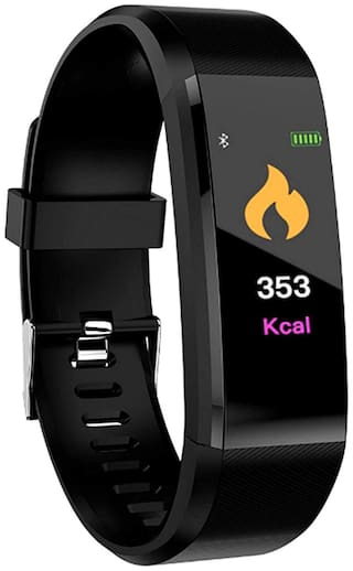 CHG I D 115 Plus Bluetooth Fitness Band Smart Watch Tracker with Heart Rate Sensor Activity Tracker Waterproof Body Functions Like Steps and Calorie Counter;Blood Pressure;OLED Touchscreen