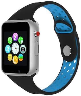 Crystal Digital Samsung Galaxy C9 Pro Compatible Stylish Bluetooth M3 Smart Watch  Pedometer Smart Health  Speaker  Microphone (Blue)