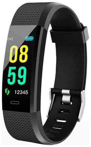 TSV ID115 Fitness Activity Tracker Watch with Heart Rate Monitor Waterproof Smart Band with Step Counter Calorie Pedometer Watch for Kids Women and Men