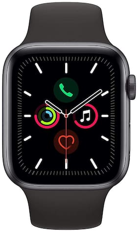 CHG T55 Smart Watch Bluetooth Call Music Player 44 MM for Apple iOS Android Phone Heart Rate Monitor (Black)