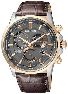Citizen leather PC Chronograph watch for Men-BL8148-11H