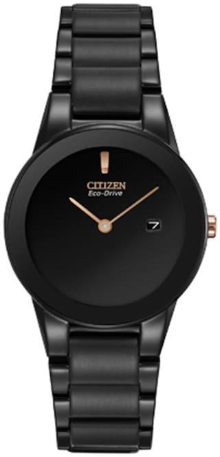 Citizen Women's GA1055-57F Eco-Drive Axiom Black Stainless Steel Watch