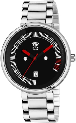 ClockRoom 2101-BK Day Exclusive Stainless Steel Strap Analog Watch For Men