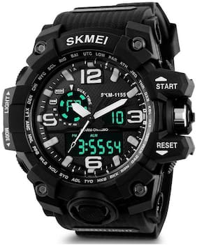 ClockRoom  CR_175 SKMEI Sports Black Multifunctional Dual Time Digital FAST SELLING Waterproof Calendar Stopwatch Analog-Digital Watch - For Men