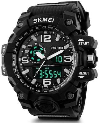 ClockRoom  CR_175 SKMEI Sports Black Multifunctional Dual Time Digital FAST SELLING Waterproof Calendar Stopwatch Analog-Digital Watch - For Men