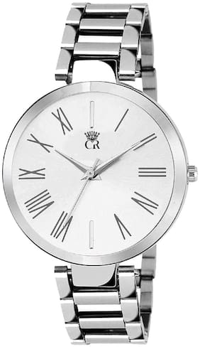 ClockRoom CR_119 New Arrival White Round Dial Stainless Steel Belt Analog Watch  - For Women