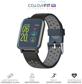 Noise ColorFit Pro Smartwatch - Sport Grey Black | Bluetooth Smart Band with Detachable Strap | Wide Screen Waterproof | Sports and Activity Tracker | Camera and Music Control Features