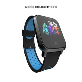 Noise ColorFit Pro Smartwatch - Sport Blue Black | Bluetooth Smart Band with Detachable Strap | Wide Screen Waterproof | Sports and Activity Tracker | Camera and Music Control Features