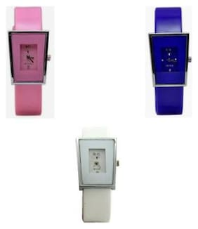 Combo Of Designer Analog Watch For Girls And Women