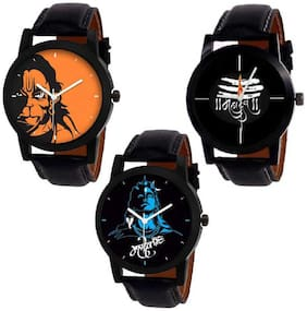 Combo Pack 3 Best Stylish Designer Leather Belt Watch For Boys & Girls ZB-N24 Watch