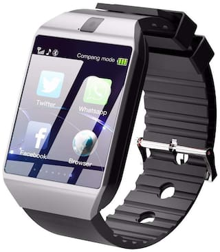 CRYSTAL DIGITAL DZ09 Smart Watch Compatible with All 3G;4G Phone with Camera and Sim Card Support (SILVER colour)