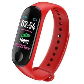 Crystal Digital M3 Band Heart Rate Monitor OLED Display Waterproof Sports Health Activity Fitness Smartband Bracelet Smartband (Red)