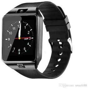 Crystal Digital DZ09 Bluetooth Smart Watch with Camera, Sim & SD Card Slot (Black)
