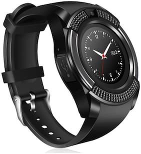 Crystal Digital V8 Silver Bluetooth Camera And Sim Card Supported Watch Compatible with Samsung Galaxy Note 9  (Black)