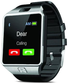 Crystal Digital DZ09 Bluetooth 4G Touch Screen Smart Watch Phones SIM Card;SD Card Slot;Multi Language Support Compatible with All Android and iOS Devices {SILVER}