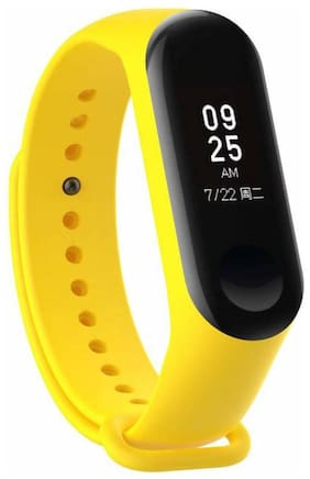 Crystal Digital M3 Smart Activity Fitness Tracker Band | Alarm Clock | Incoming Call Feature | Heart Rate Monitoring Yellow