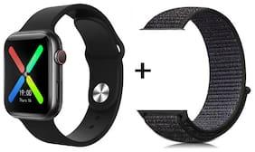 T500_watch_blk+nylonstrapblk_01 Unisex Smart Watch