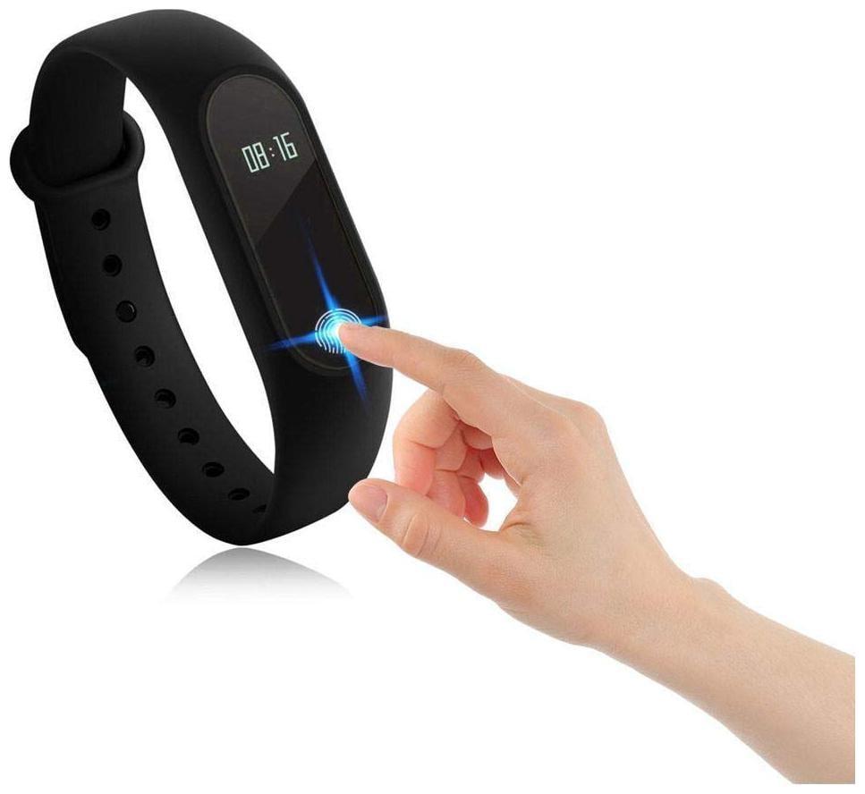 Crystal Digital M2 Fitness Band Rubber Health Bracelet Free Size Designed For...