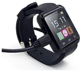 CRYSTAL DIGITAL  U8 Bluetooth 4G Touch Screen Watch with Camera/Sim Card/SD Card Slot/Fitness Activity Feature for All Smartphone Device  (Black)