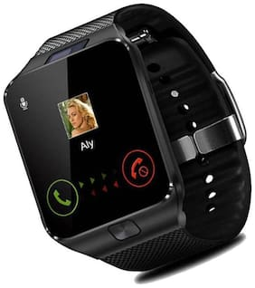 CRYSTAL DIGITAL  DZ09 Smart Bluetooth Wristwatch with Camera, Calling & Other Mobile Function, Social meadia aaps Facebook, whatsaap, twiter, for All Smartphones (Black)