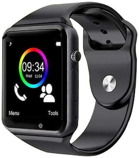 Crystal digital A1 Unisex Bluetooth Smart Watch for Men Boys Girls Women Compatible with All Samsung Xiaomi Lenovo Oppo Android iOS Apple iPhone Mobile Phones (black)