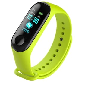 Crystal Digital M3 Smart Activity Fitness Tracker Band   Blood Pressure   Long Battery Life   Heart Rate Monitoring Green