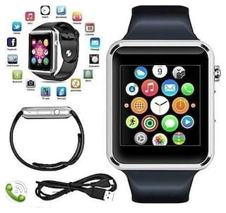 Crystal Digital A1 Bluetooth Smartwatch with SIM Card Slot Compatible with Samsung LG/Sony/HTC/Samsung/Redmi for Women Men Kids Boys Girls